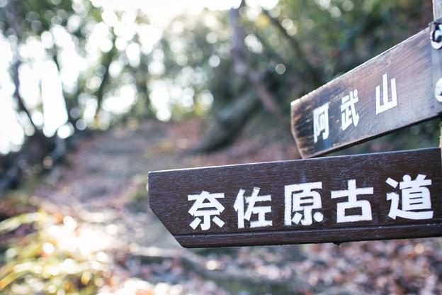 20210104 阿武山の標識 奈佐原古道