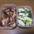 Photos: 茗荷の酢漬け、黒瓜とオクラの塩麹漬け