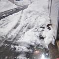 車庫前の雪