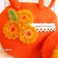 Photos: フェルトのオレンジバッグとポーチ b2