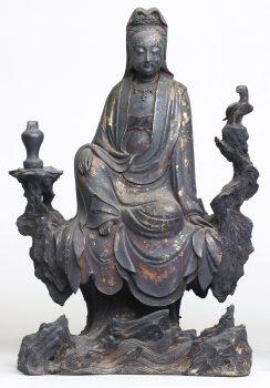 大阪市立美術館 仏像 中国・日本 金銅観音菩薩坐像 明時代 奈良薬師寺