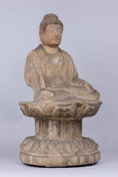 大阪市立美術館 仏像 中国・日本 石像如来坐像 唐時代 永青文庫