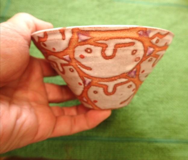 Photos: 竹内礼さんの顔シリーズ 茶碗 20210204_122007