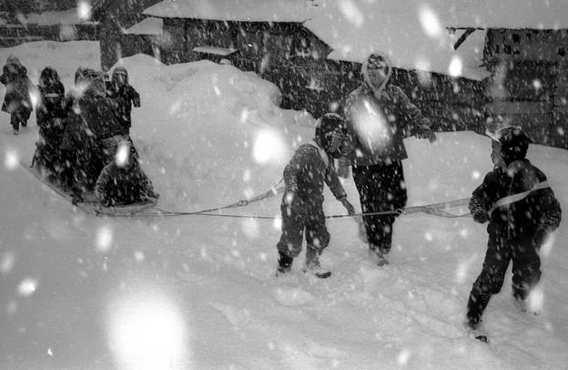 6吹雪の通園