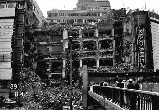 阪神大震災の傷跡