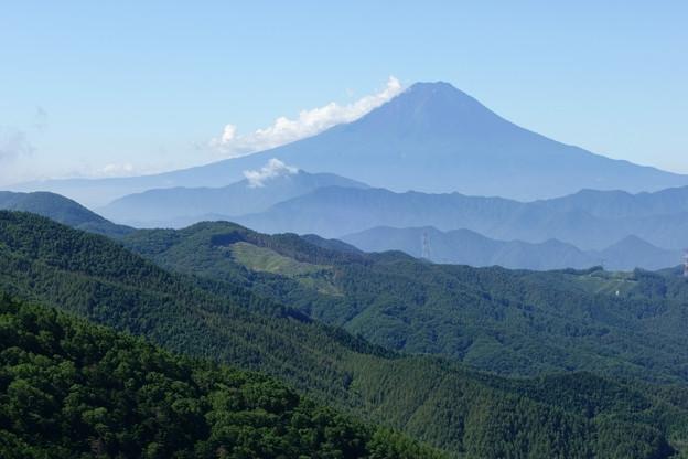 大菩薩嶺から見る富士山