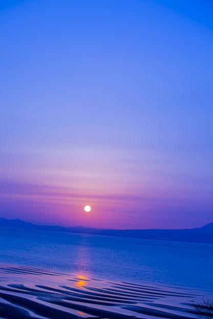写真: 沈む太陽