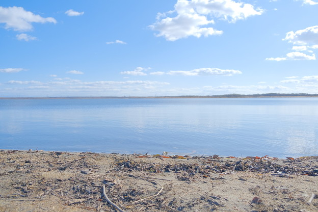穏やかな湖畔