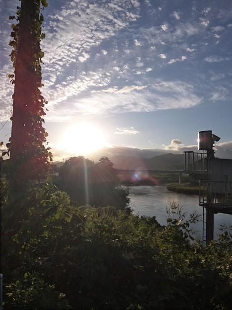 雨上がりの由良川