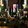 Photos: 夜の繁華街の少しはずれ