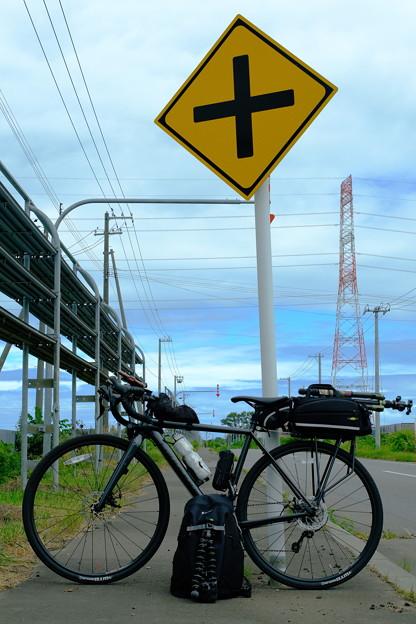 晴れ間と自転車
