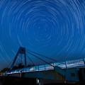 20200811 水元公園でペルセ群の流星と北極星野