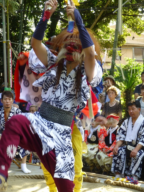 谷保天満宮例祭の古式獅子舞@川崎20180923