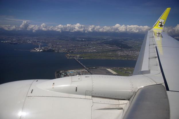 名古屋空港着陸態勢