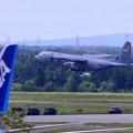 Photos: C130輸送機 米軍離陸-1