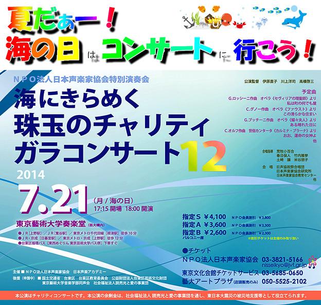 海の日コンサート 夏だ! 海の日はコンサートに行こう! 2014  第12回 海の日チャリティコンサート 海の日コンサート in 奏楽堂