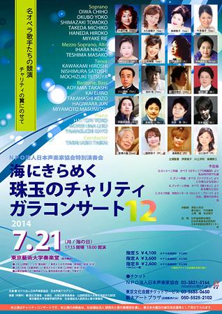 海にきらめく珠玉のチャリティガラコンサート 12 第12回 日本声楽家協会 特別演奏会 2014