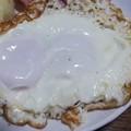 二個玉卵の目玉焼き