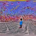 駿府城公園 奥中章人  風船状の巨大な彫刻作品 内部 360度パノラマ写真 HDR