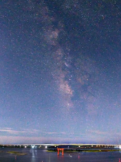 浜名湖、弁天島で見る星空