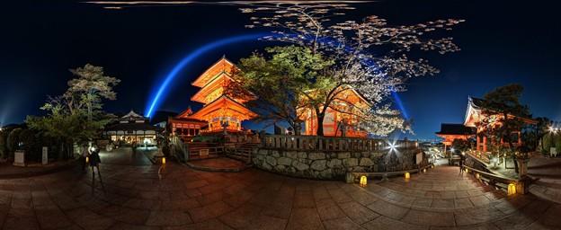 京都・清水寺 ライトアップ 360度パノラマ写真
