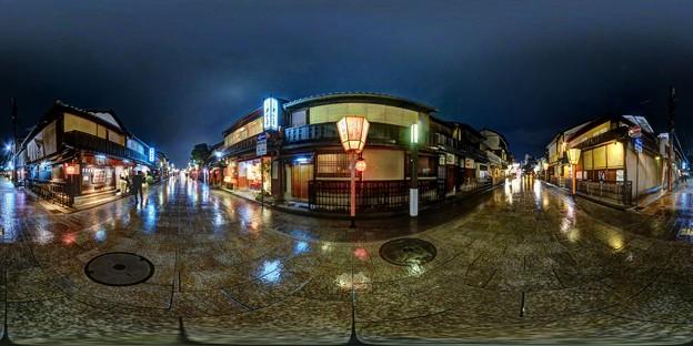 京都 祇園 花見小路通 360度パノラマ写真