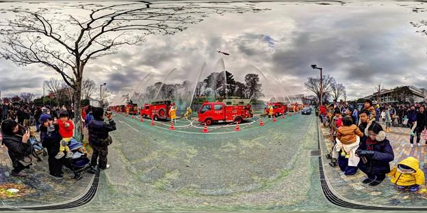 出初式 駿府城二ノ丸堀 静岡市民文化会館前 360度パノラマ写真