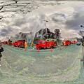Photos: 出初式 駿府城二ノ丸堀 静岡市民文化会館前 360度パノラマ写真