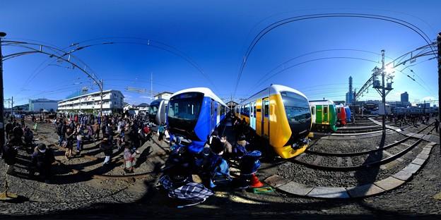 静鉄長沼車庫 新型車両の新色追加に伴う撮影会 360度パノラマ写真(1)