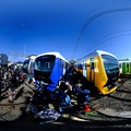 Photos: 静鉄長沼車庫 新型車両の新色追加に伴う撮影会 360度パノラマ写真(1)