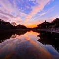 Photos: 奈良公園 鷺池 浮見堂 夕景