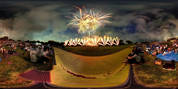 日本平まつり 花火大会 360度パノラマ写真(3)
