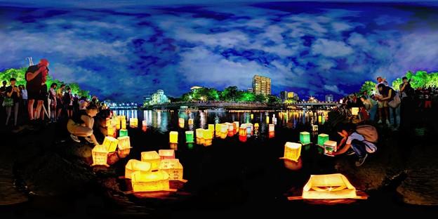 2019年8月6日 広島 灯籠流し 360度パノラマ写真(1)
