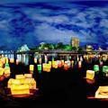Photos: 2019年8月6日 広島 灯籠流し 360度パノラマ写真(1)