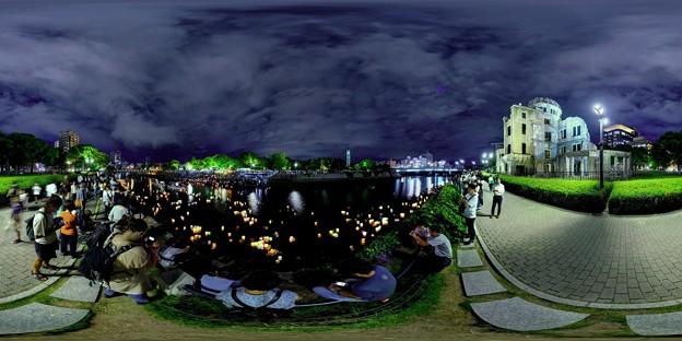 2019年8月6日 広島 灯籠流し 360度パノラマ写真(2)