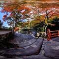 京都 大原 紅葉 360度パノラマ写真(2)