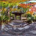京都 大原 三千院 西方門付近紅葉 360度パノラマ写真
