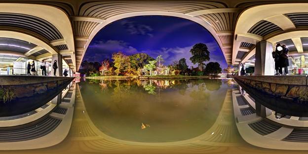 奈良国立博物館 新館庭園 360度パノラマ写真