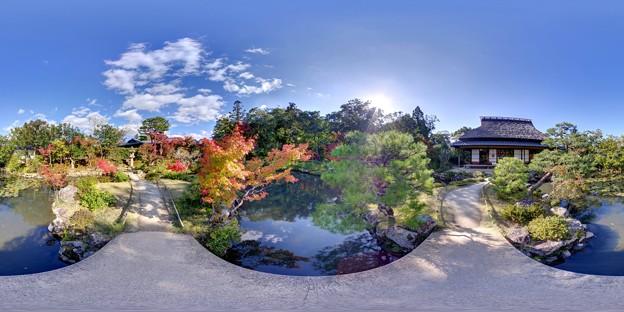 依水園庭園 360度パノラマ写真(1)