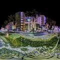 Photos: 青葉シンボルロード イルミネーション 360度パノラマ写真 (「水流彫刻の水路」)