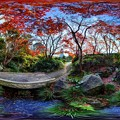 駿府城公園 紅葉山庭園 紅葉 360度パノラマ写真(1)