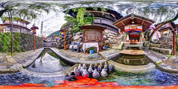 郡上八幡 宗祇水(祭礼時) 360度パノラマ写真(1)