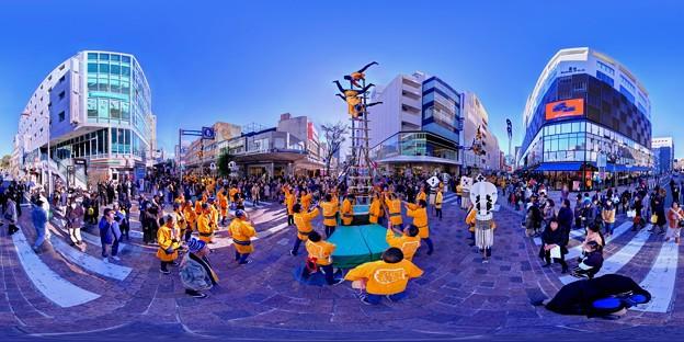 2020年1月5日 呉服町 梯子乗り 360度パノラマ写真