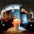 Photos: 飛騨古川 三寺参り  円光寺沿い瀬戸川 歩道  雪像ろうそく 360度パノラマ写真