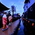 飛騨古川 三寺参り8) 円光寺付近の瀬戸川沿い 歩道