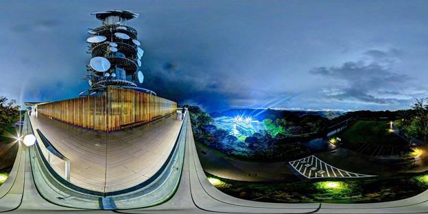 日本平 夢テラス 展望回廊 葵区・駿河区側 夜景 360度パノラマ写真