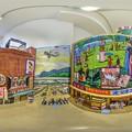 段ボールアートで再現された七間町映画街の風景  360度パノラマ写真(1)b
