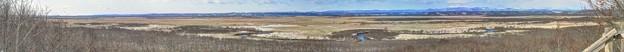 釧路湿原 細岡展望台からの眺望 パノラマ写真