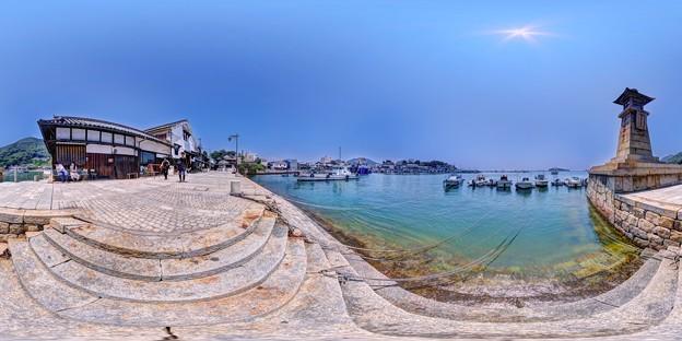 鞆の浦 360度パノラマ写真(1) 雁木