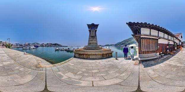 鞆の浦 360度パノラマ写真(2) 常夜燈